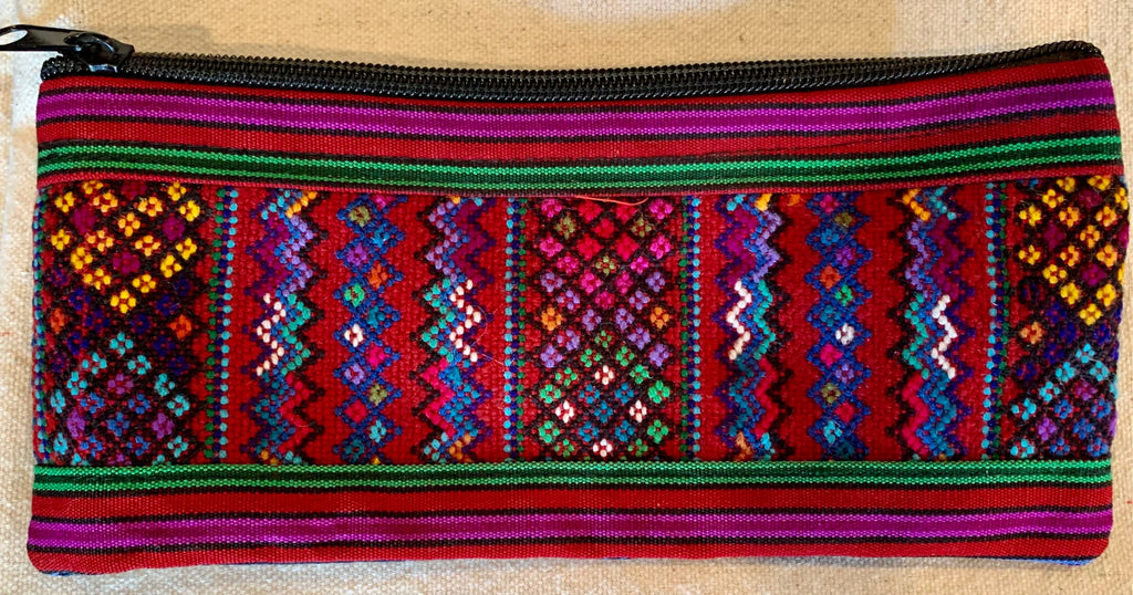Pouch made from traditional Mayan textiles #16