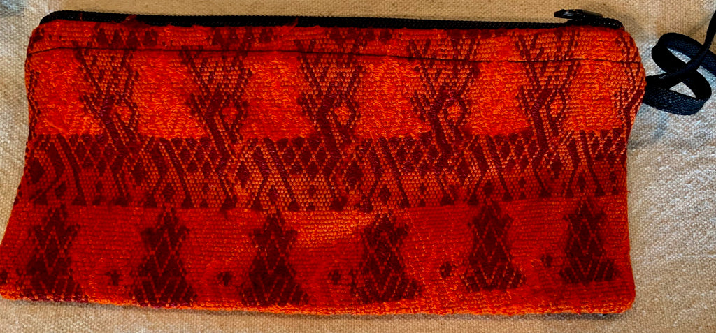 Pouch made from traditional Mayan textiles #24 with reindeer