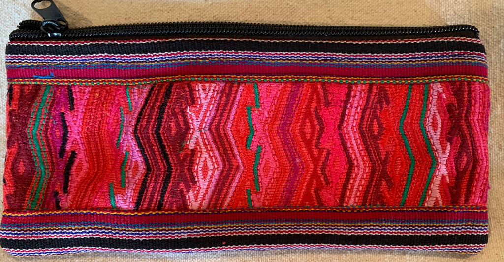 Pouch made from traditional Mayan textiles #17