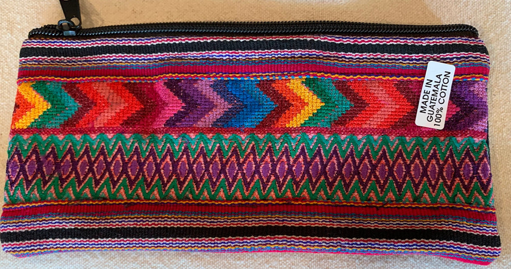 Pouch made from traditional Mayan textiles #21