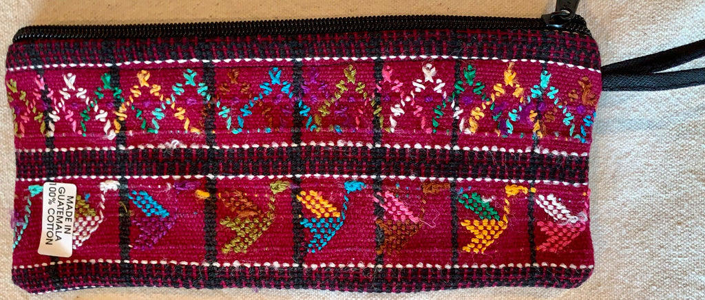 Pouch made from traditional Mayan textiles #22