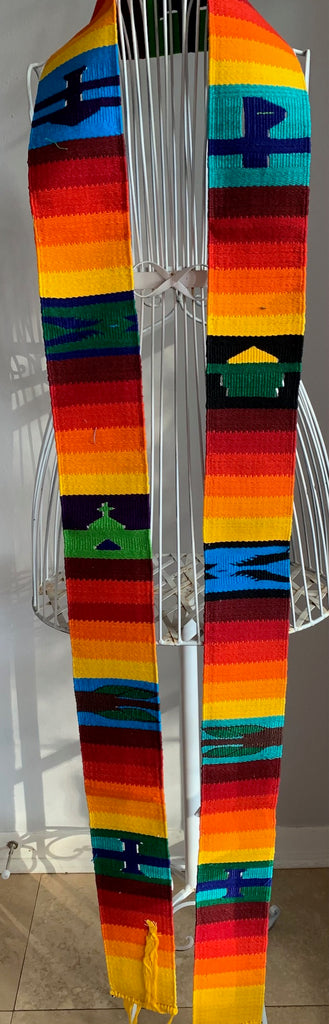 Clerical Stole Rainbow w/ Symbols