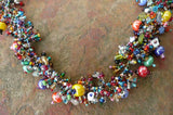 Bright Bead and Stone Necklace