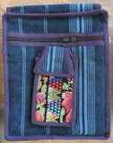 Best Seller!  Organizer pouch w/ multiple pockets and long strap in blue