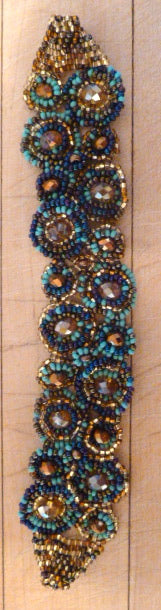 Beaded bracelet with magnetic clasp #2