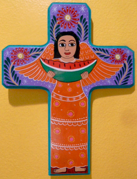 Painted Cross - Lorenzo family of Guerrero, Mexico