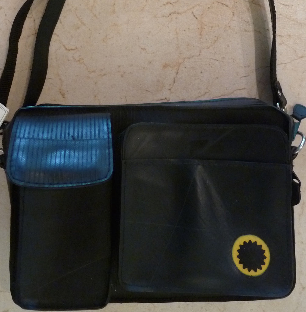 Recycled tire tube purse 4