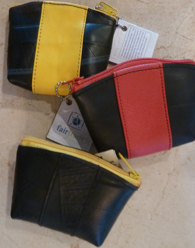 Recycled tire tube pouches