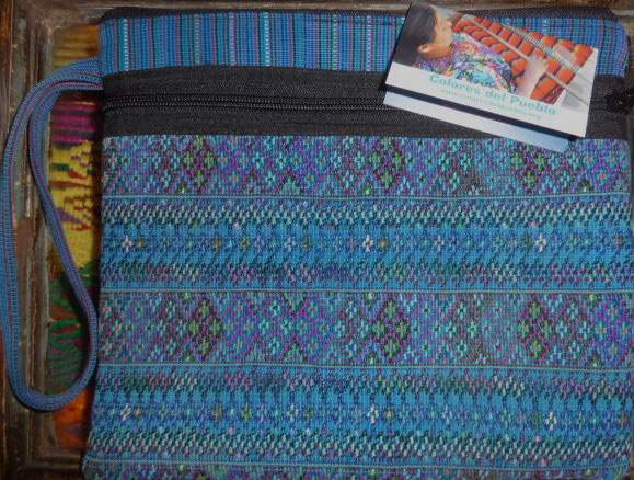 Large Zippered Pouch made from hand-woven fabric