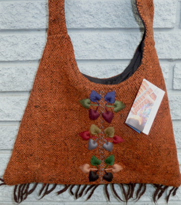 Wool Bag from hand-spun wool