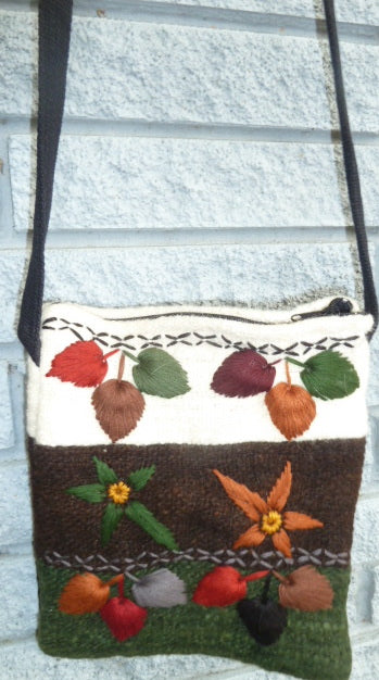 Wool Pouch from hand-spun wool