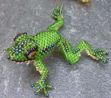 Beaded Climbing Frog Ornaments