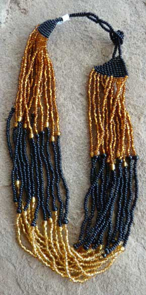 Bead Choker - gold and black