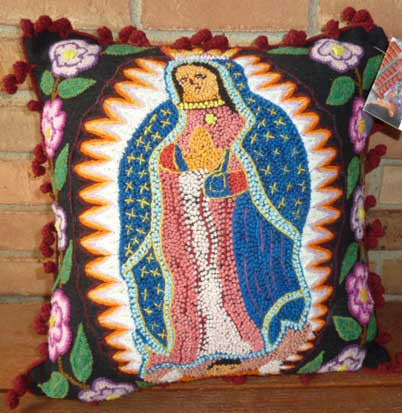 Pillow Cover w/ Virgin of Guadalupe