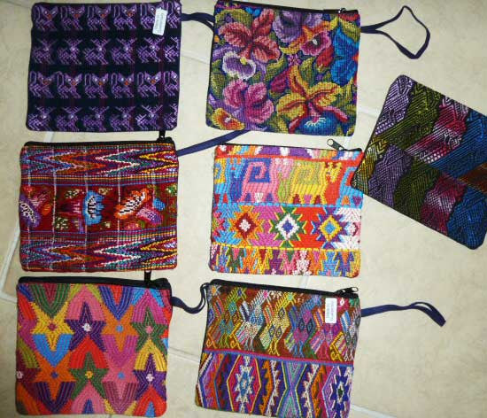 Pouches made from huipiles