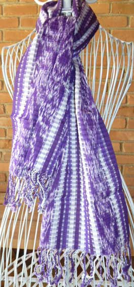 Purple Ikat Scarf #039