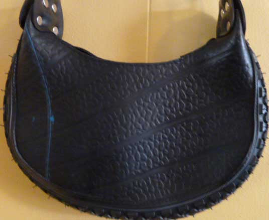 Recycled tire tube purse #R003