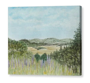 Hilly Retreat Canvas Print