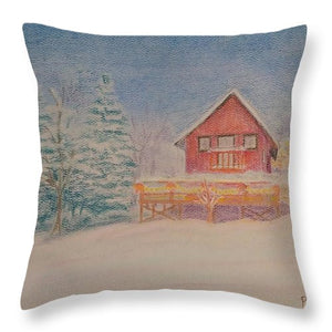 Christmas At Home - Throw Pillow