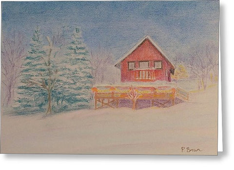 Christmas At Home - Greeting Card
