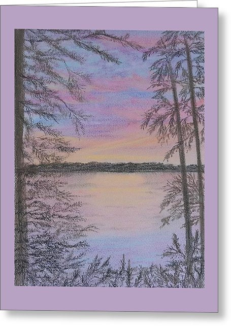 Colorful Sunset - Greeting Card