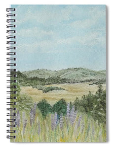 Hilly Retreat - Spiral Notebook