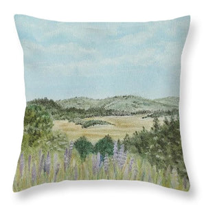 Hilly Retreat - Throw Pillow