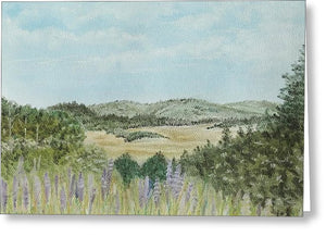 Hilly Retreat - Greeting Card