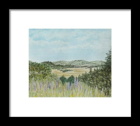 Hilly Retreat - Framed Print