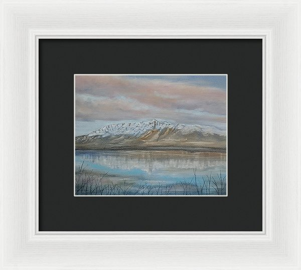 Mountain Reflection - Framed Print