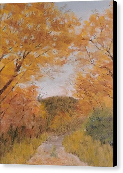 Serene Autumn Path - Canvas Print