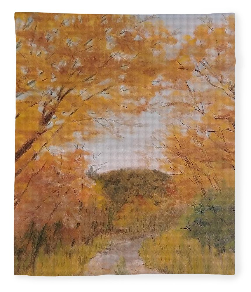Serene Autumn Path - Blanket