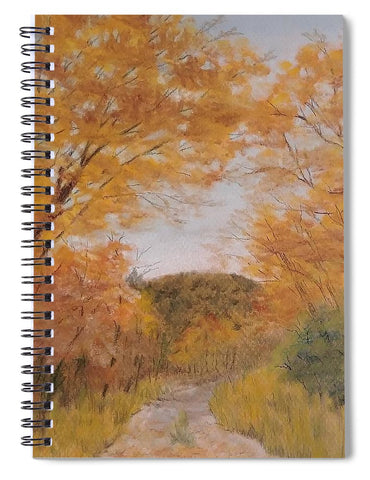 Serene Autumn Path - Spiral Notebook