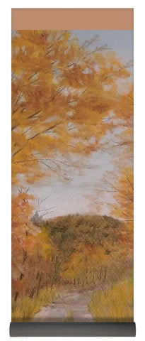 Serene Autumn Path - Yoga Mat