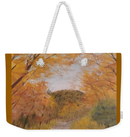 Serene Autumn Path - Weekender Tote Bag