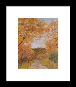 Serene Autumn Path - Framed Print