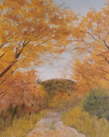 Serene Autumn Path - Art Print