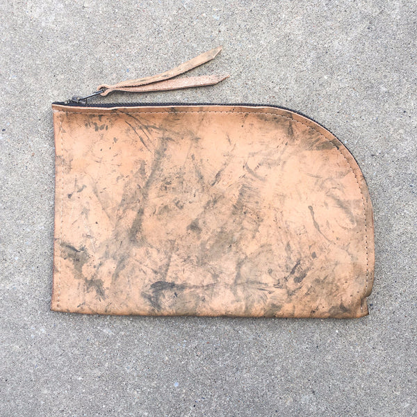 admonish Curved Leather Pouch