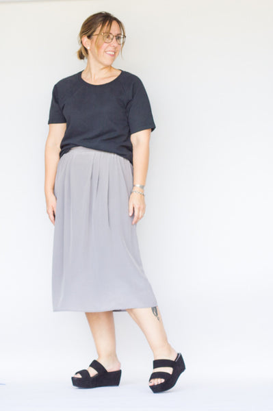 Ali Golden Silk Skirt - S/M