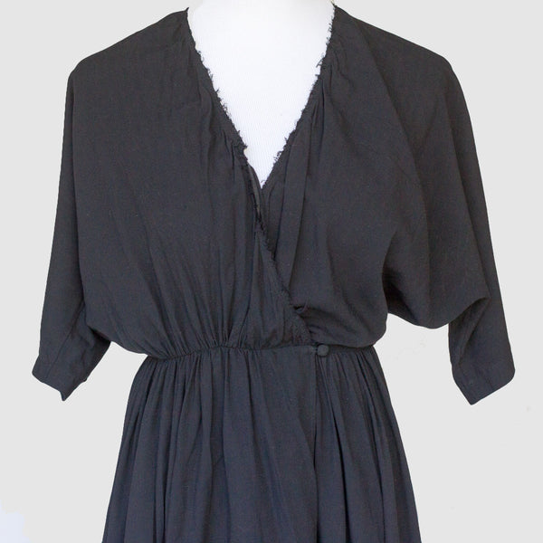 Anderst Bamboo Rayon Racer Back Wrap Dress - XS