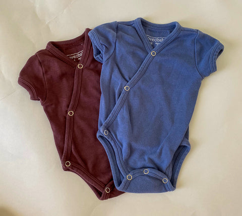 L'oved Baby Kimono Onesies - 0-3 Months