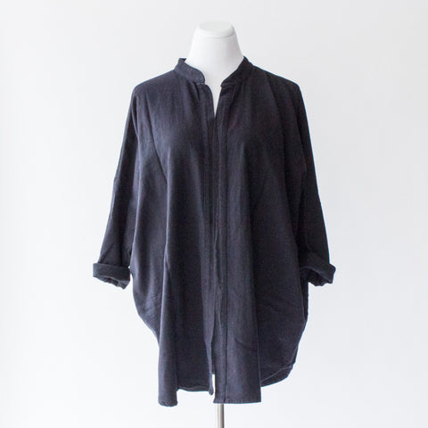 Black Crane Square Shirt - One Size