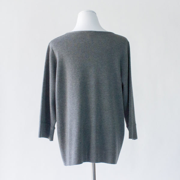 Eileen Fisher Washable Wool Crepe Sweater - XL