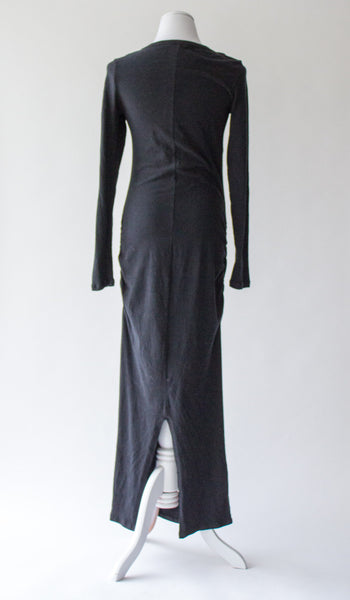 James Perse Skinny Split Long Sleeve Maxi Dress - 3