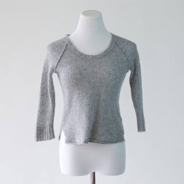 James Perse Cropped Cashmere Sweater - 3