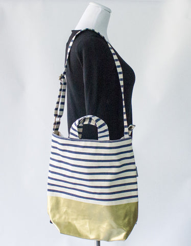 BAGGU Canvas Bag with Gold Bottom