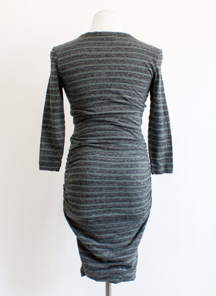 James Perse Ruched Striped Dress - 1