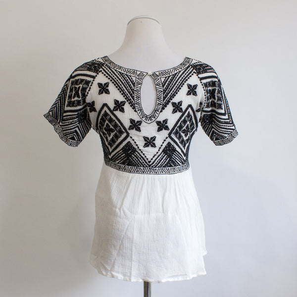 Sezane Embroidered Top - 38