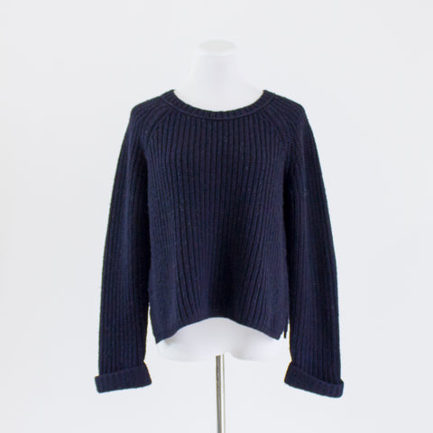 Calypso Cropped Crew Sweater - Large