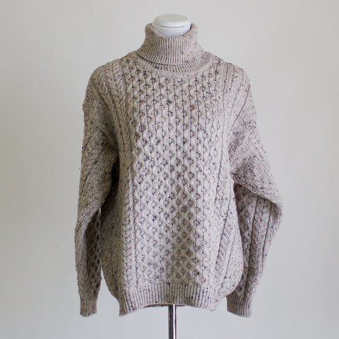 Aran Crafts Irish Wool Sweater - Large